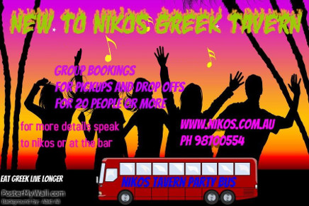 Group bookings bus now availiable for pickups and drop offs for 20 people or more